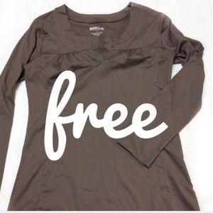 Free*Magellan brown long sleeve top XL